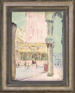The Piazzetta and Campanile, Venice by Wladimir de (Wlodzimierz)  Terlikowski