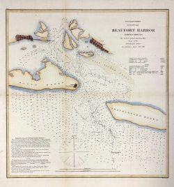 US Coast Survey Beaufort Harbor by Alexander Dallas Bache  (1806-1867)