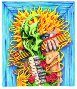 ProgDay Festival Art by Michael Bennett