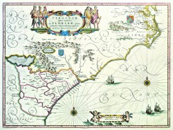 Virginia partis australis et Florida by Willem J. Blaeu (1571-1638)