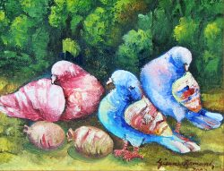 Les Pigeons by Gesner Armand