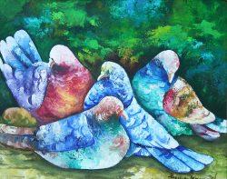 Pigeons Bleus by Gesner Armand