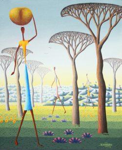 Une Plaine Surrealiste by Rebert Damour