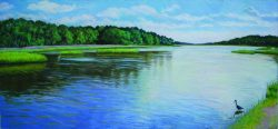 White Oak River, Bogue Sound by Elsie Dinsmore Popkin