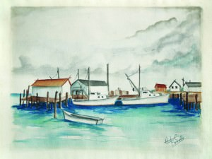 New Hanover Shrimpers by Hester C. Donnelly (1912-1997)