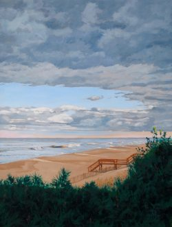 Last Light at the Beach by William C. Wright