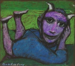 Purple with Horns by Robert Broderson (1920-1992)