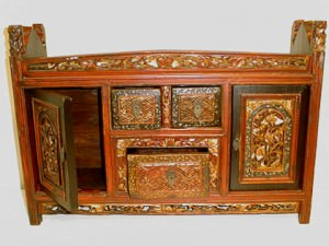 Antique Mongolian Cabinet