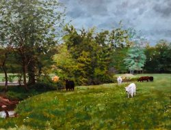 Cows Along the Stream by William C. Wright