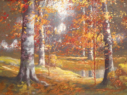 Shady Autumn Glade by William  Eyden, Jr