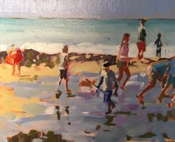 Collecting Mussels Normandy by Laura Lacambra Shubert