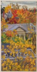 Cornell Series: October View of Goldwyn Smith Hall by Elsie Dinsmore Popkin