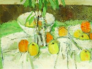 Still Life with Pineapple and Pears by Charles Quest (1904-1993)