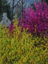 Redbud on Roslyn Road IV by Elsie Dinsmore Popkin