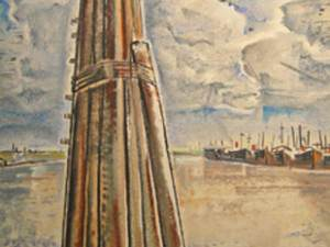 River Pilings - New Orleans by Will Henry  Stevens